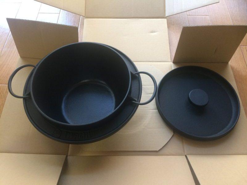 岩鋳の南部鉄器ごはん鍋で炊飯