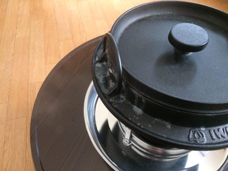 石油コンロと鉄鍋で炊飯 (10)
