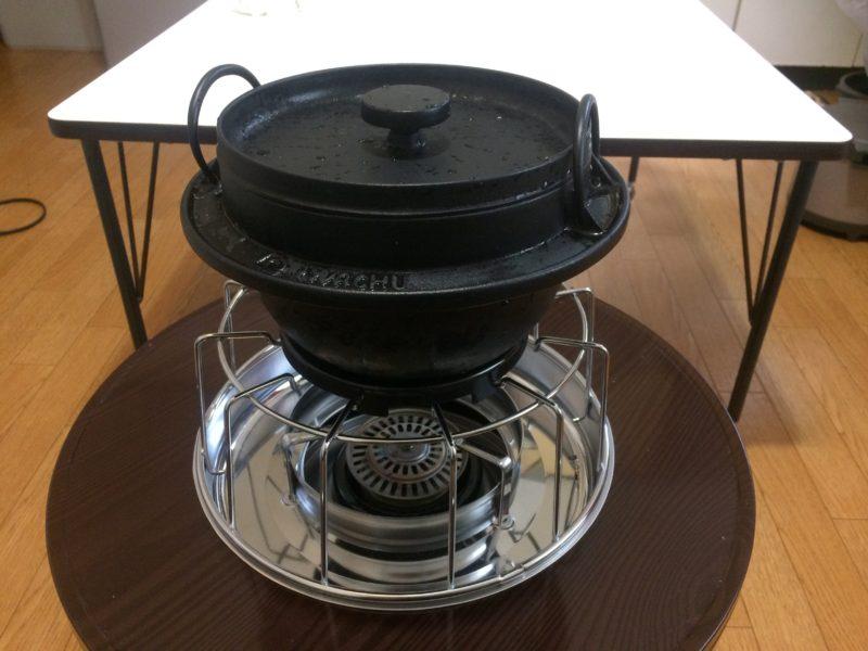 石油コンロと鉄鍋で炊飯 (3)