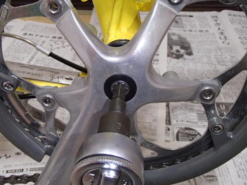 バイクフライデー ノマド 小径車 ボトムブラケット交換