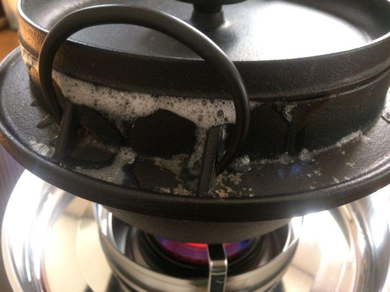 石油コンロと鉄鍋で炊飯 (9)