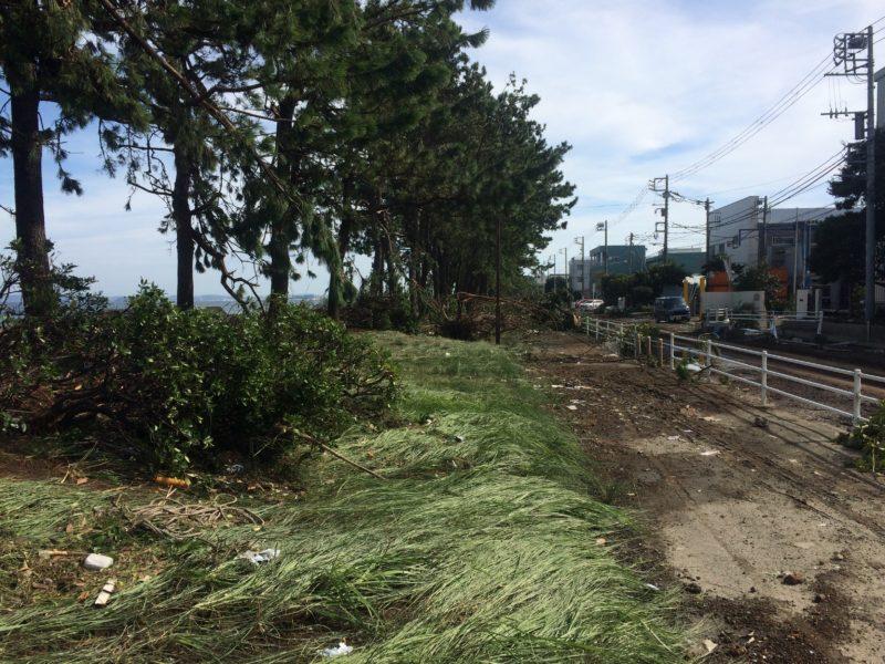 金沢区福浦の台風被害
